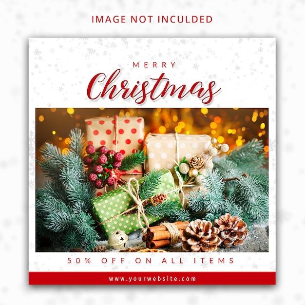 Modelo de postagem do instagram de feliz natal Psd Premium