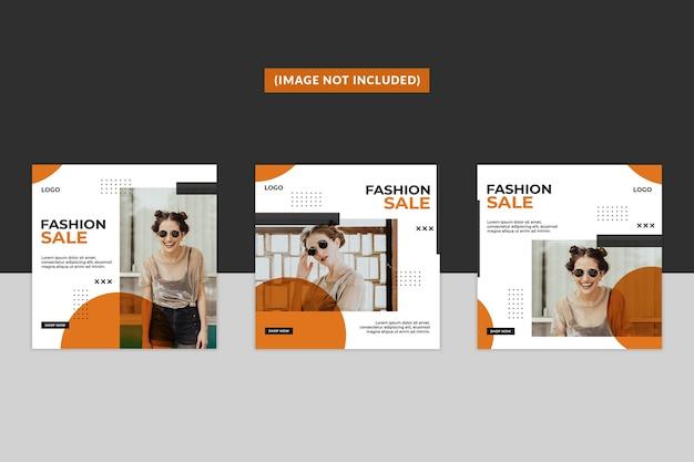 Modelo de postagem em mídia social de moda Psd Premium