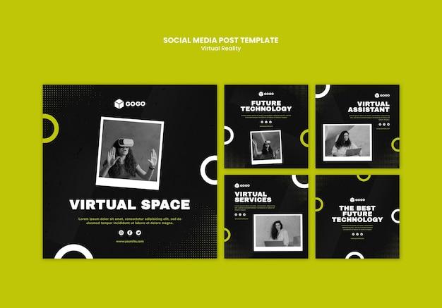 Modelo de postagem em mídia social de realidade virtual Psd grátis