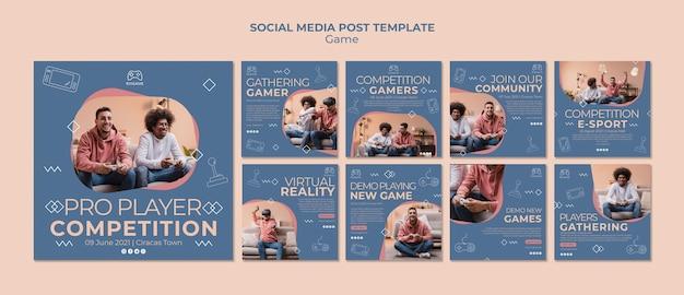 Modelo de postagem - mídia social de conceito de jogo Psd grátis
