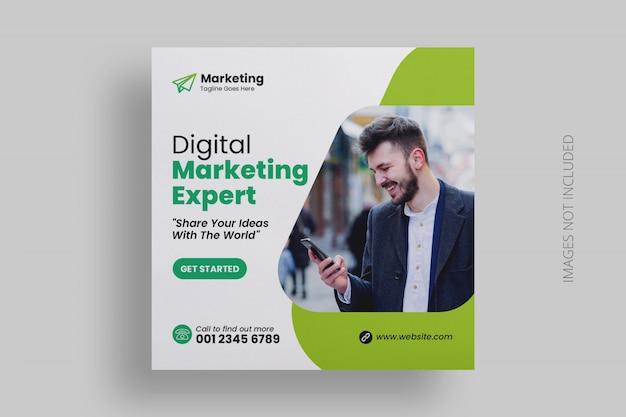 Modelo de postagem - mídia social de marketing digital Psd Premium