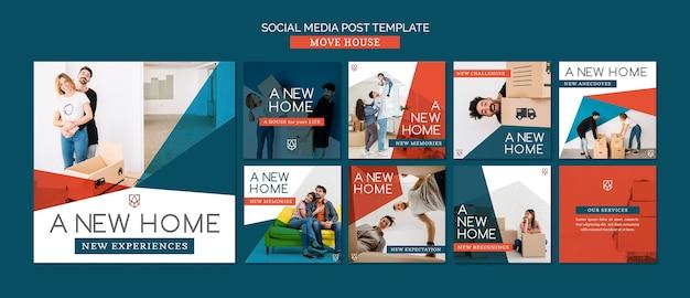Modelo de postagem - mover casa mídia social Psd grátis