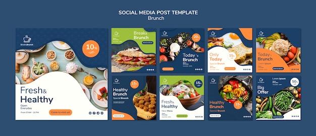Modelo de postagem para brunch theme for social media Psd grátis