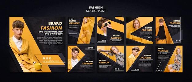 Modelo de postagem social de moda Psd grátis