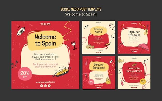 Modelo de postagens de cultura espanhola Psd grátis