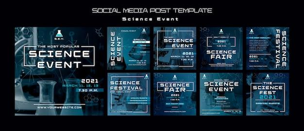 Modelo de postagens do instagram para eventos científicos Psd grátis