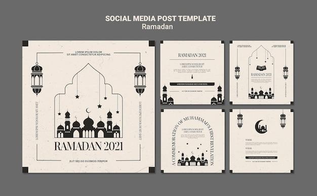 Modelo de postagens do instagram para eventos do ramadã Psd grátis