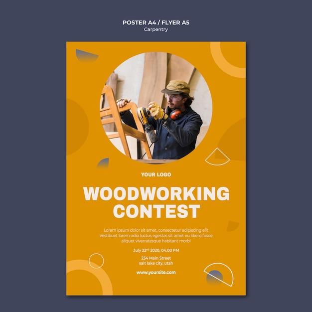 Modelo de pôster de anúncio carpenter Psd grátis