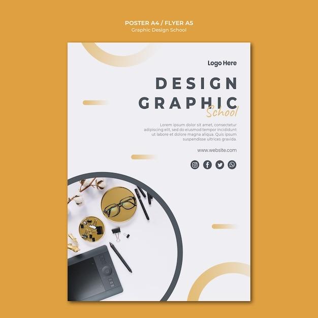Modelo de pôster de design gráfico Psd grátis