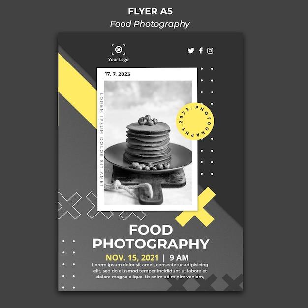 Modelo de pôster de fotografia de comida Psd grátis