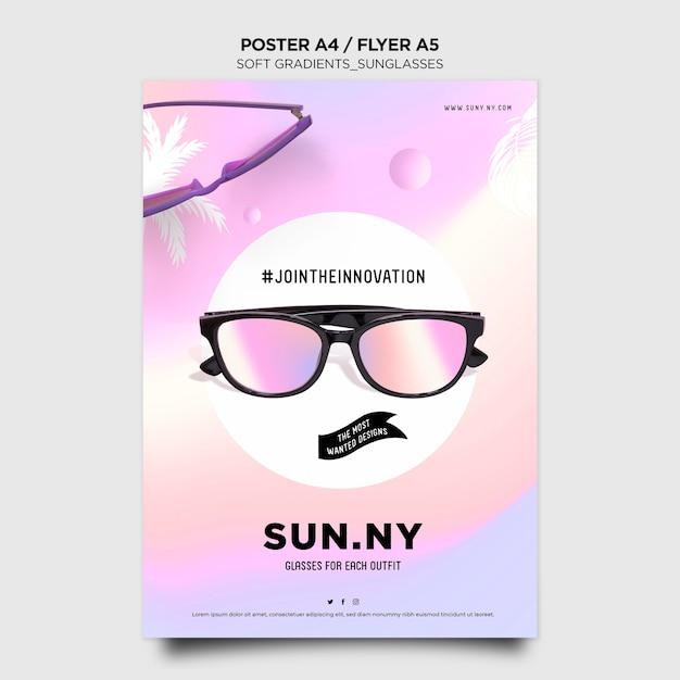 Modelo de pôster de loja de óculos de sol Psd grátis