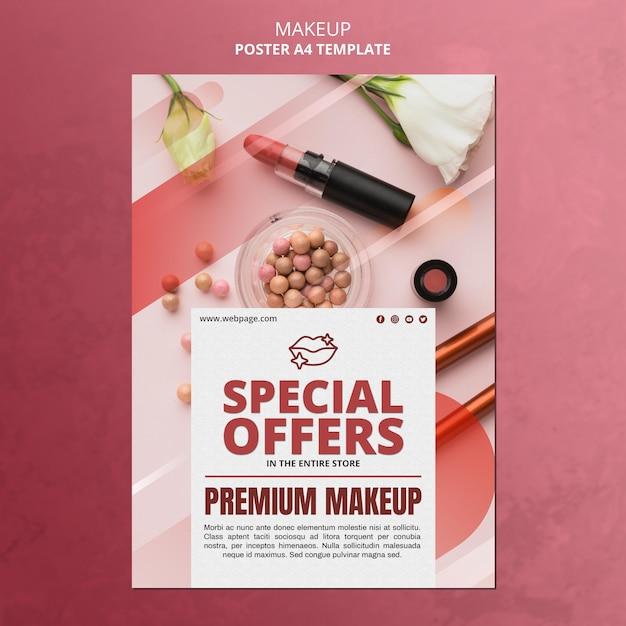 Modelo de pôster de oferta especial de maquiagem Psd grátis