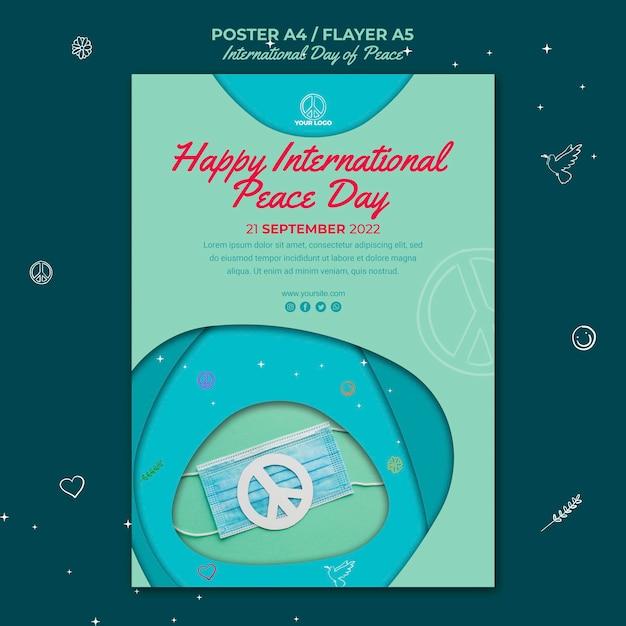 Modelo de pôster do dia internacional da paz Psd grátis