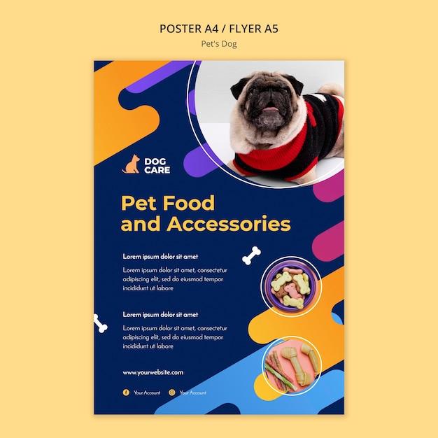 Modelo de pôster para empresa de pet shop Psd grátis