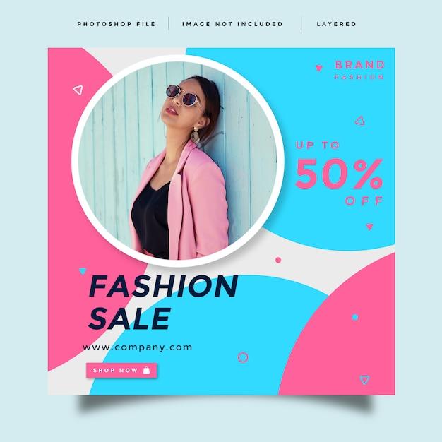 Modelo de promoção de mídia social de moda Psd Premium