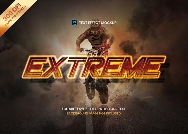 Modelo de psd de efeito de texto dinâmico energético logotipo esportivo. Psd Premium