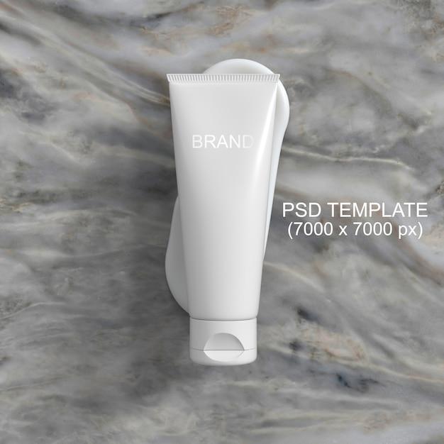 Modelo de psd de maquete de creme de embalagem de cosméticos Psd Premium