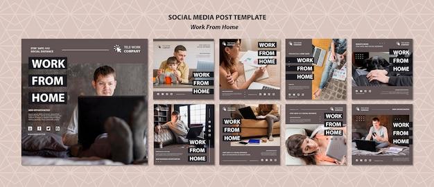 Modelo de publicação de mídia social do conceito de casa Psd grátis