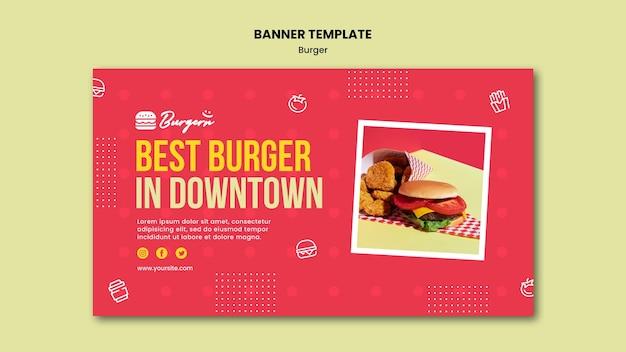 Modelo de restaurante de hambúrguer banner Psd Premium