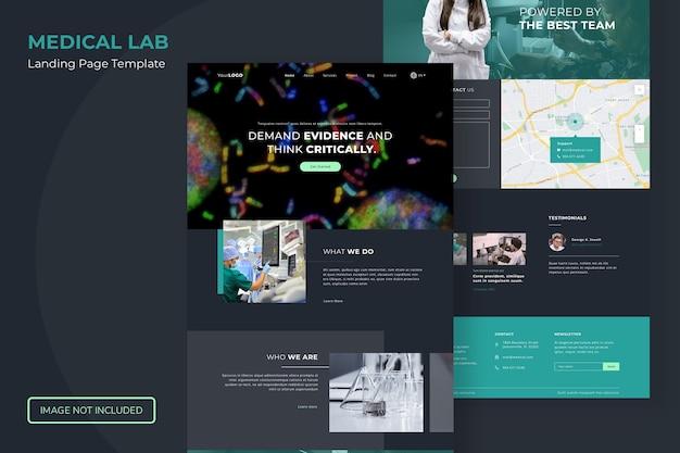 Modelo de site da página de destino do laboratório médico Psd Premium