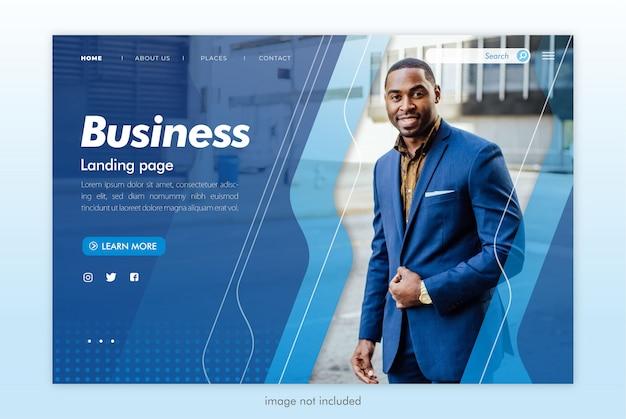 Modelo de site de página de destino de negócios Psd Premium