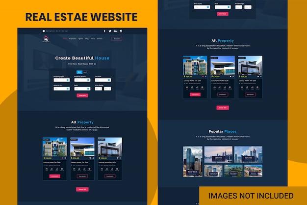 Modelo de site imobiliário Psd Premium