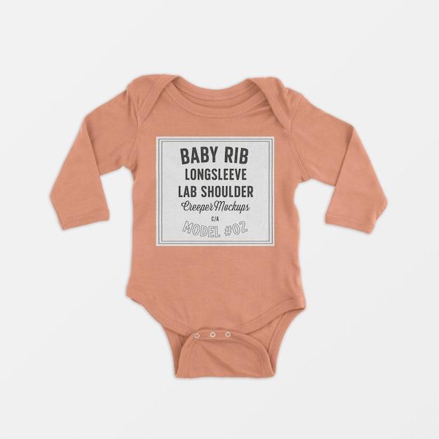 Modelo de trepadeira rasteira de ombro de colo de bebê Psd grátis