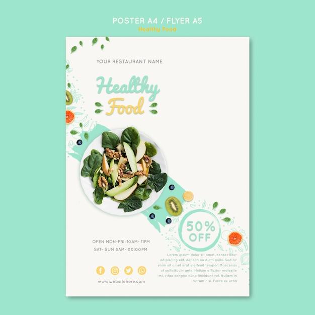 Modelo de vale alimentação saudável com foto Psd grátis
