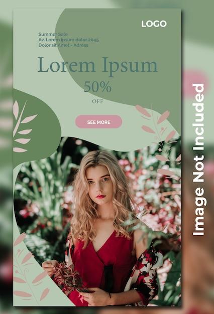 Modelo de venda de moda para publicação de mídia social Psd Premium