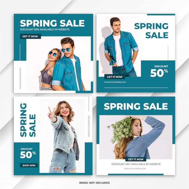 Modelo de venda - moda de pacote de postagem do instagram Psd Premium