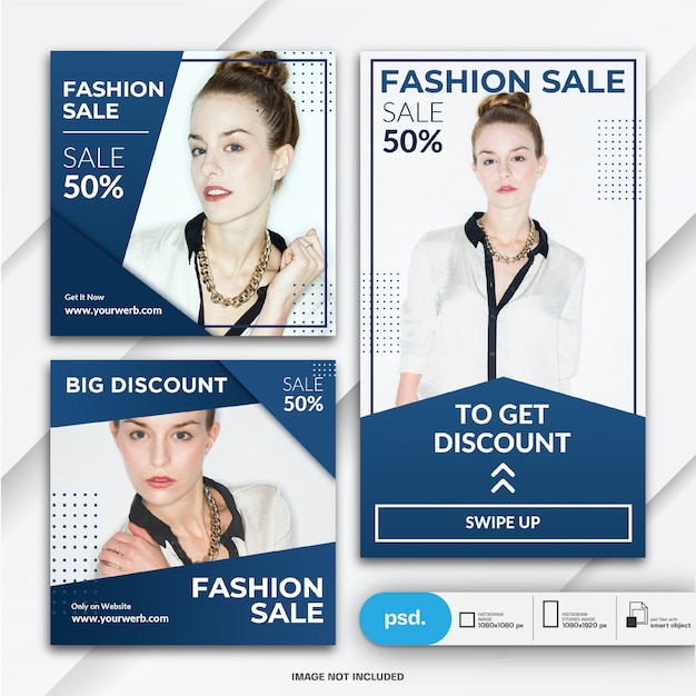 Modelo de venda - moda e publicação do instagram stories Psd Premium