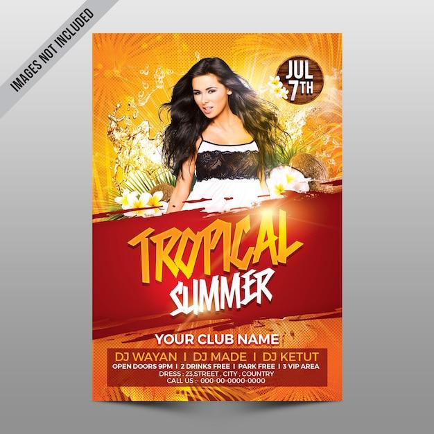 Modelo de verão tropical Psd Premium