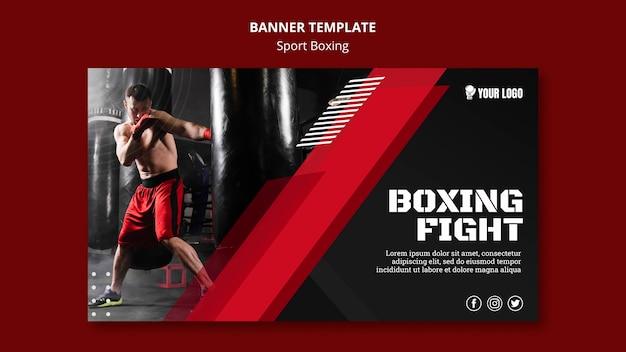 Modelo de web de banner de luta de boxe Psd grátis
