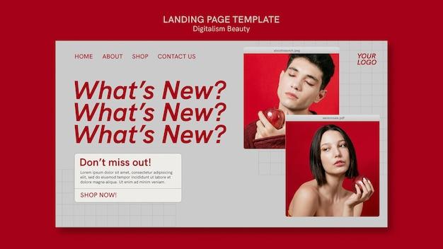 Modelo de web de beleza digital com foto Psd grátis