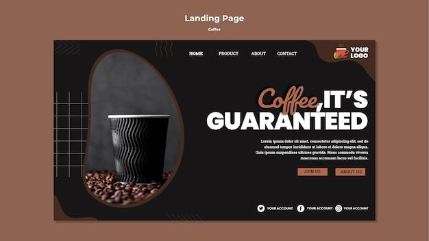 Modelo de web de café delicioso Psd grátis