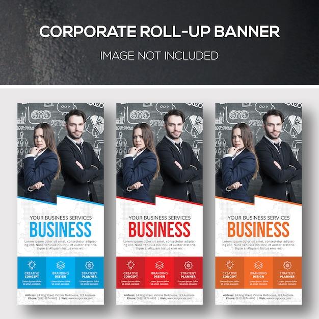 Modelo de xbanner de roll-up corporativo Psd Premium