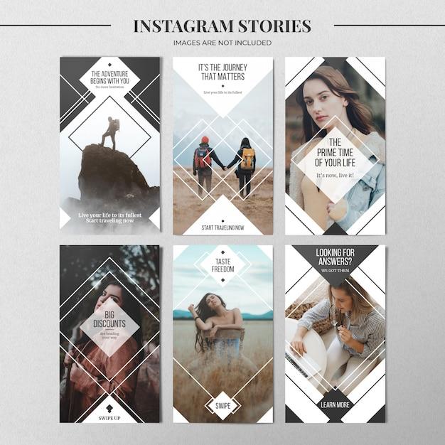 Modelo mínimo de história do instagram Psd Premium