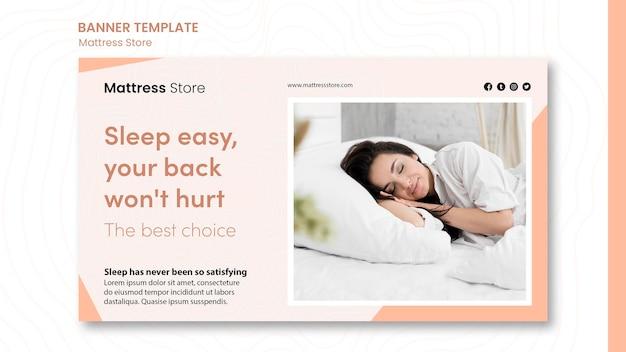 Modelo promocional de banner de colchões Psd Premium