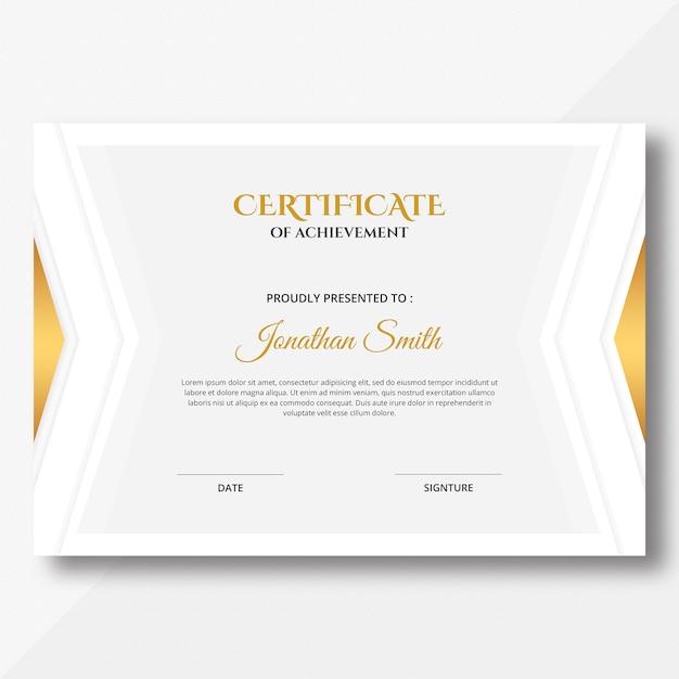 Modelo simples de certificado Psd Premium