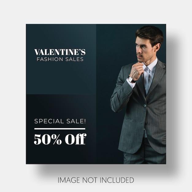 Modelo social de vendas do dia dos namorados Psd grátis