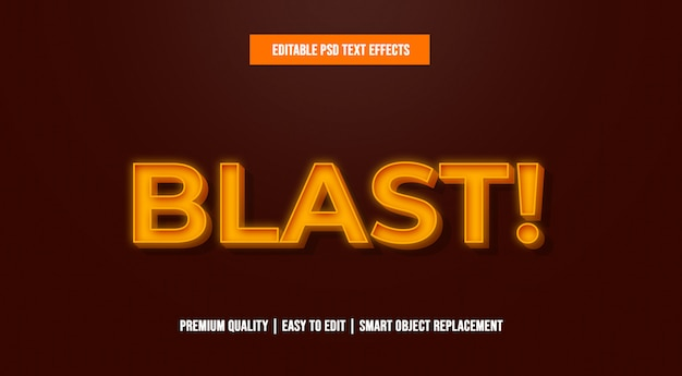 Modelos de efeitos de texto editável da explosão psd Psd Premium