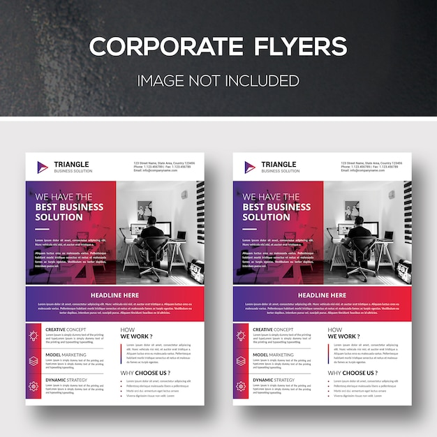 Modelos de folheto corporativo Psd Premium
