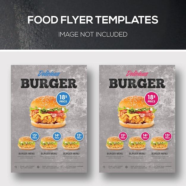 Modelos de folheto de alimentos Psd Premium