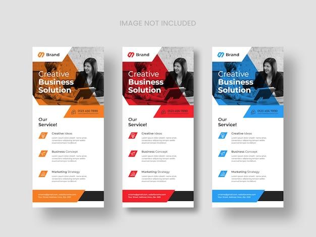 Modelos de panfleto dl empresarial moderno Psd grátis