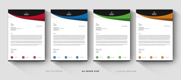 Modelos de papel timbrado modernos e profissionais Psd Premium