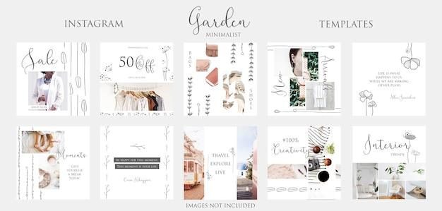 Modelos de postagem do instagram Psd Premium