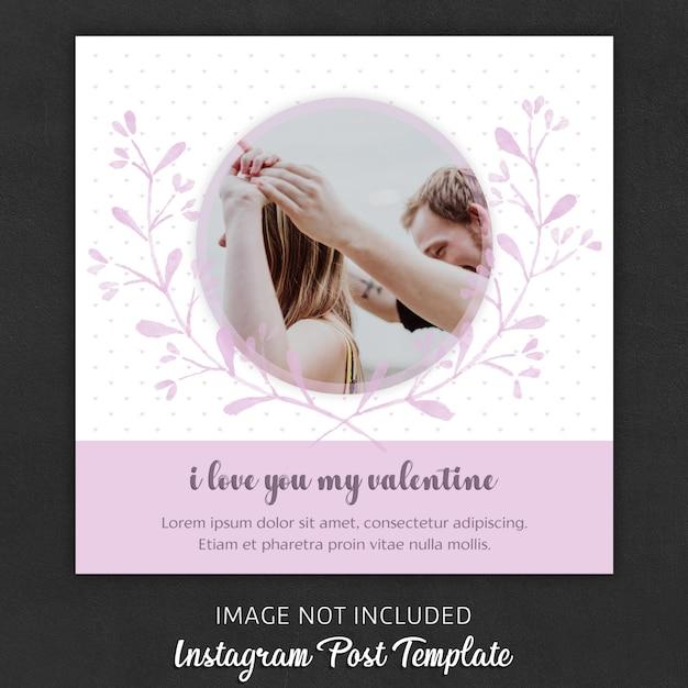 Modelos de postagem no instagram para o dia dos namorados Psd Premium