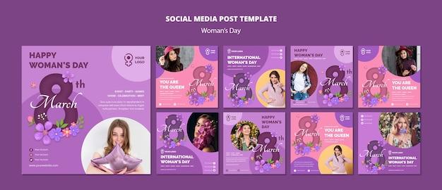 Modelos de web de mídia social do dia da mulher Psd grátis
