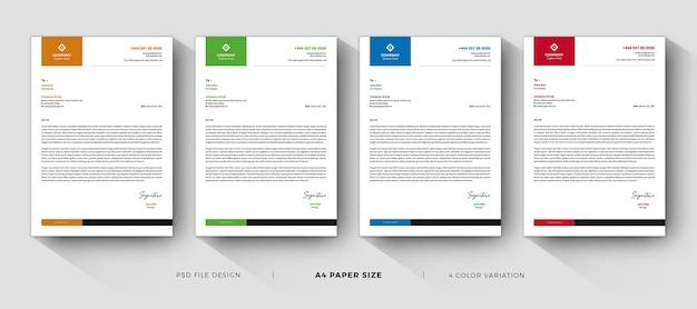 Modelos limpos de papel timbrado design profissional e moderno Psd Premium