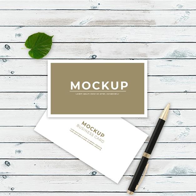 Modern business card modelo de maquete Psd Premium